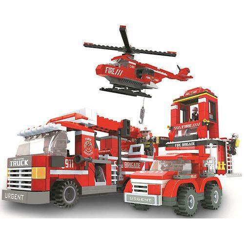 Dromader STRAŻ Klocki straż pożarna 21901 mega zestaw 697 el. 21901