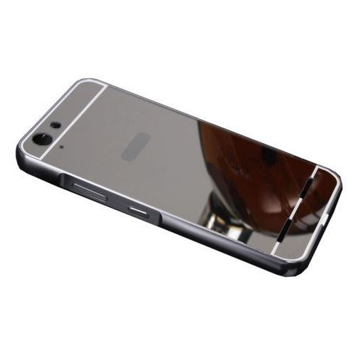 Mirror Bumper Metal Case Czarny   Etui dla Lenovo K5 / K5 Plus - Czarny, kolor czarny