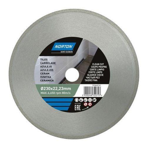 Tarcza diamentowa Norton do cięcia ceramiki 230 x 22 23 mm