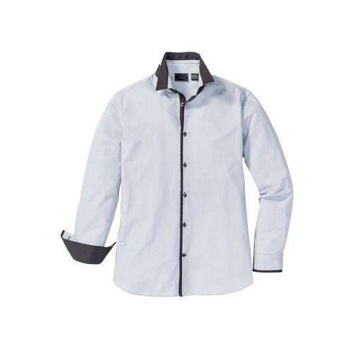 Bonprix Koszula regular fit jasnoszary w paski