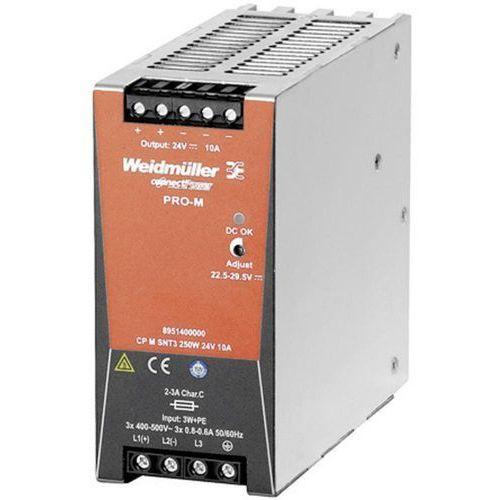 Zasilacz na szynę DIN Weidmüller CP M SNT3 250W 24V 10A, 8951400000, 24 V/DC, 10 A, 240 W, 1 x, CP M SNT3 250W 24V 10A