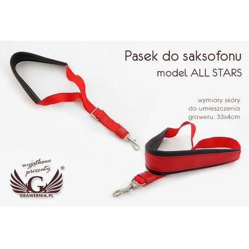 PASEK DO SAKSOFONU czerwono - czarny - model: All Stars- wersja Komfort - PDS12