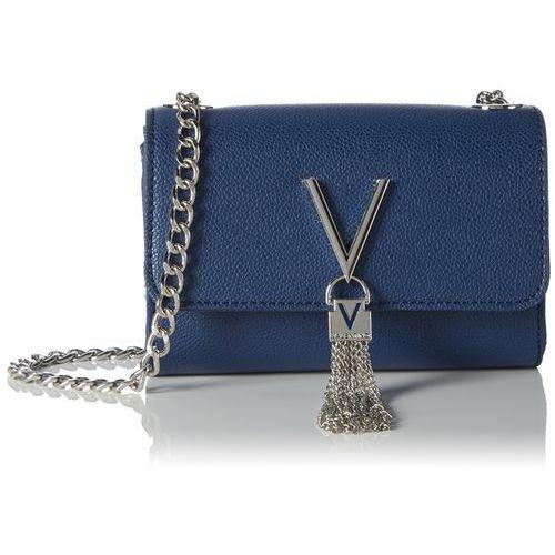 damski divina torba biznesowa, 4.0 x 11.5 x 17.0 cm, kolor: niebieski marki Mario valentino
