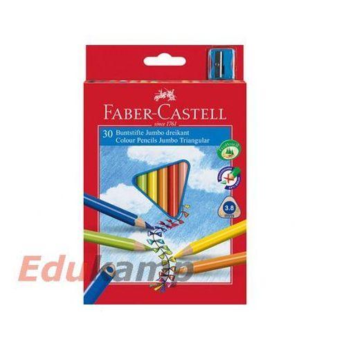Kredki Faber-Castell Jumbo trójkątne 30 kolorów + temperówka