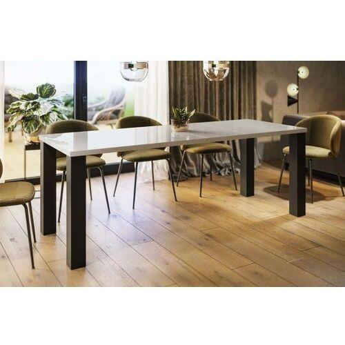 Stół Juka rozkładany 80-170 biały połysk, en-0084
