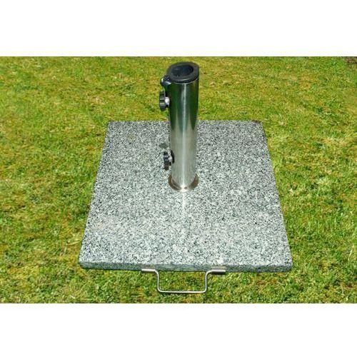 Podstawa z granitu i stali nierdzewnej z kółeczkami pod parasol 25 kg