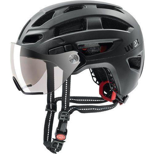UVEX Finale Visor Kask rowerowy, black matt 56-61cm 2019 Kaski miejskie i trekkingowe