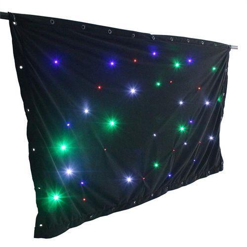 beamZ SparkleWall kurtyna 36 LED RGBW 1 x 2m kontroler pilot zdalnej obsługi (sprzęt DJ)