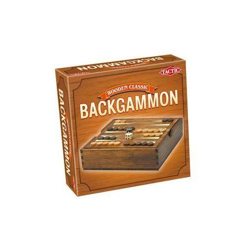 Tactic Gra backgammon wooden classic 14026