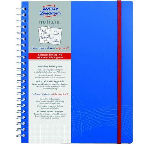 Kołozeszyt Avery Zweckform Notizio Standard 7037 A4/80k. kratka (4004182070376)