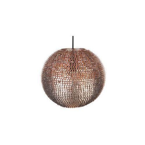 Beliani Lampa sufitowa wisząca miedziana - żyrandol - oświetlenie - seine (4260580939688)