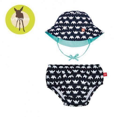 Lassig  zestaw kapelusz i majteczki do pływania z wkładką chłonną viking uv 50+