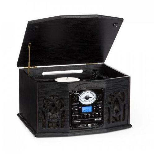 NR-620 stereofoniczny gramofon nagrywający MP3, czarna obudowa z drewna