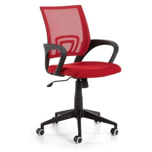 Fotel biurowy Ebor czerwony - czerwony, kolor czerwony