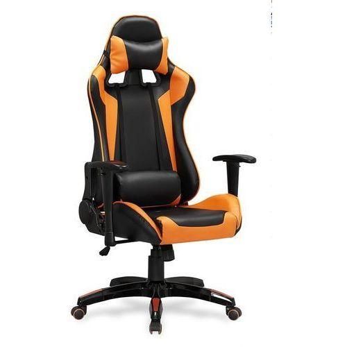 Fotel gamingowy defender-pomarańczowy - fotel dla gracza marki Halmar
