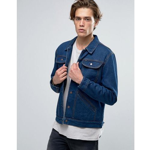 Brixton Harlan Denim Jacket With Striped Blanket Lining - Blue