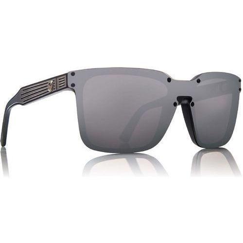 okulary słoneczne DRAGON - Mansfield 2 Matte Black Silver Ion (049) rozmiar: OS, kolor żółty