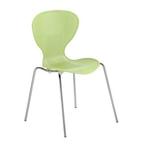 Krzesło z siedziskiem z tworzywa, szkielet chromowany, siedzisko pistacjowe, opa marki Friwa sitzmöbel