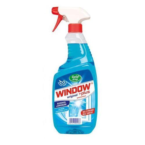 Płyn do mycia szyb Window Plus Ammonium Gold Drop, spray rozpylacz 750ml - Super Ceny - Kody Rabatowe - Autoryzowana dystrybucja - Szybka dostawa - Hurt - Wyceny