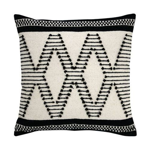 poduszka kwadratowa z aztecowymi węzłami, biało-czarna (50x50) tku2032 marki Hk living