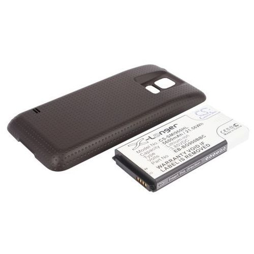 Samsung Galaxy S5 / EB-B900BC 5600mAh 21.56Wh Li-Ion 3.85V powiększony czarny (Cameron Sino)