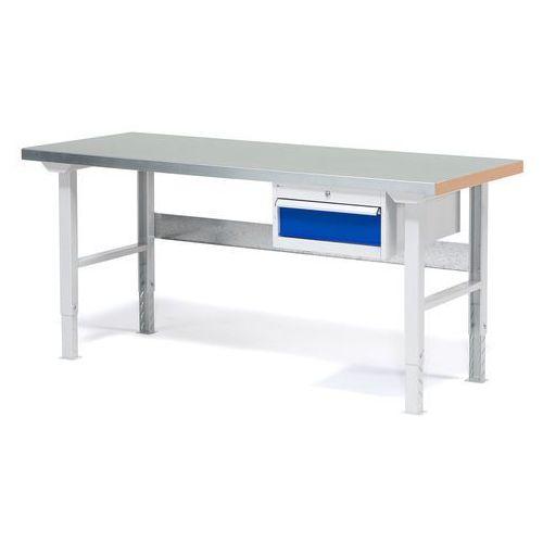 Stół warsztatowy solid, zestaw z 1 szufladą, 500kg, 1500x800 mm, stal marki Aj produkty