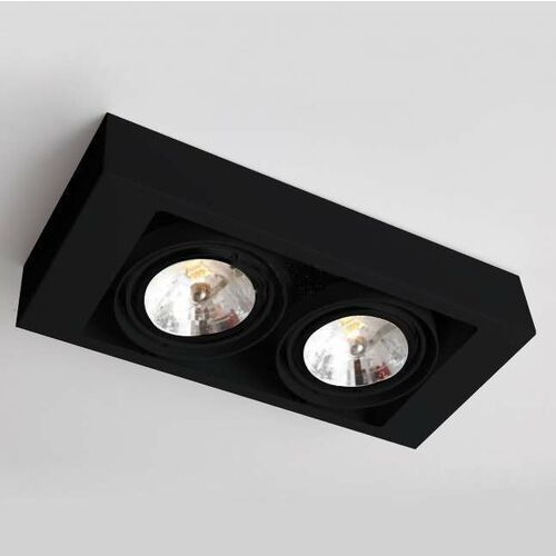 Spot LAMPA sufitowa KOGA 1153 Shilo natynkowa OPRAWA metalowa prostokątna czarna, kolor biały;czarny