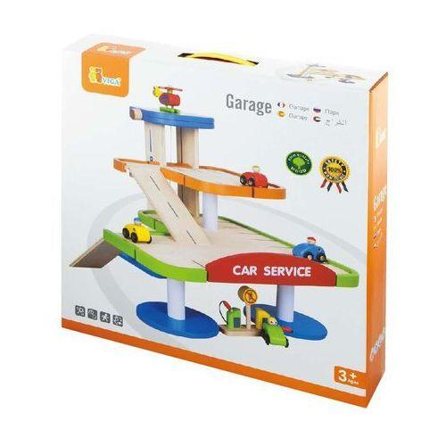 Viga Toys, Stacja benzynowa z dwupoziomowym garażem - produkt z kategorii- Garaże