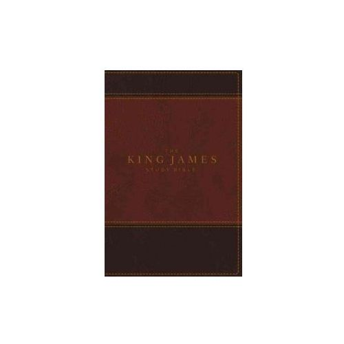 KJV, The King James Study Bible, Leathersoft, Brown, Indexed, Red Letter, Full-Color Edition