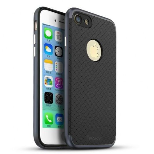 Etui premium hybrid iphone 7 gray + szkło marki Ipaky