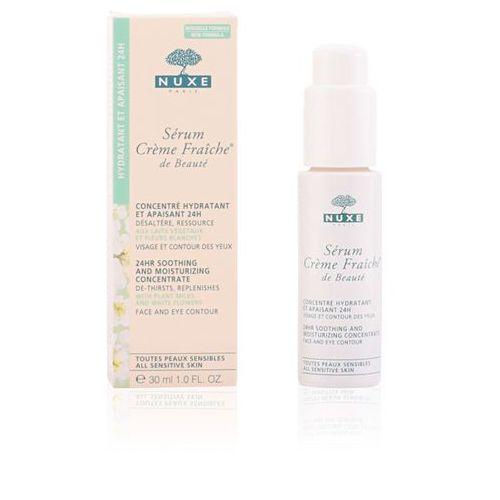 Nuxe creme fraîche de beauté serum nawilżająco-kojące do wszystkich rodzajów skóry, też wrażliwej (24hr soothing and moisturizing concentrate) 30 ml
