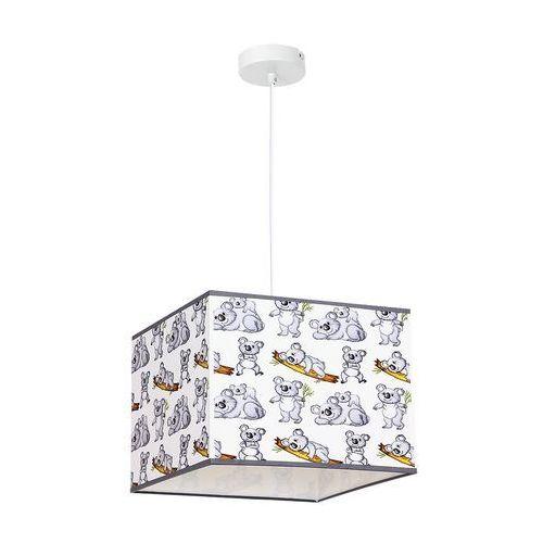 Luminex Lampa wisząca kid koala 8806 lampa sufitowa dziecięca 1x60w e27 biała / szara (5907565988062)
