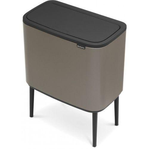 Brabantia - Kosz Bo Touch Bin 36 l - 1 komora - platynowy - platynowy, kolor srebrny