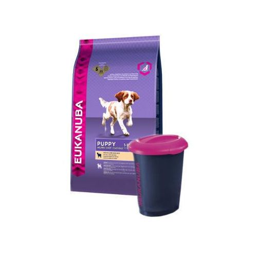 Eukanuba  puppy&junior lamb&rice all breeds 2x12kg + wiadro eukanuba gratis!