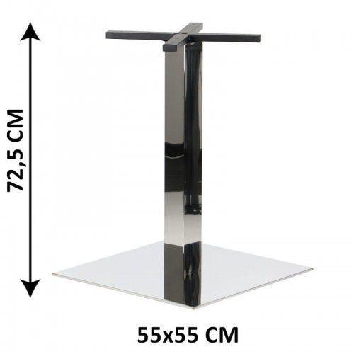 Stema - sh Podstawa stolika sh-3002-7/p, 55x55 cm, stal nierdzewna polerowana (stelaż stolika)
