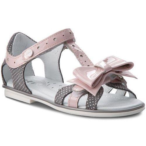 Sandały BARTEK - 36182/1G7 Szaro Różowy, kolor szary