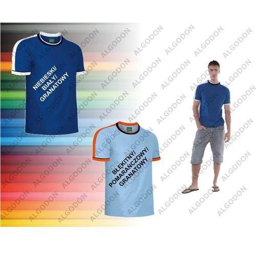 T-shirt kolorowy z krótkim rękawem XS-2XL SPLASH VALENTO S niebieski-bialy-granat