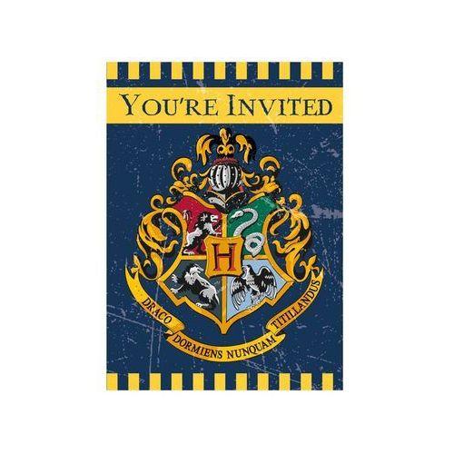 Zaproszenia urodzinowe Harry Potter - 8 szt., #D37^xk