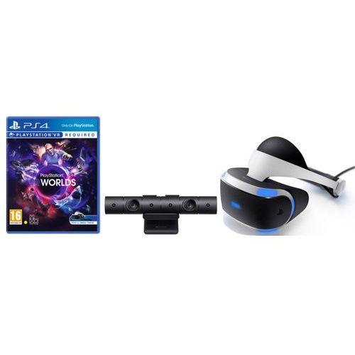 Gogle wirtualnej rzeczywistości sony playstation vr + playstation camera v2 + vr worlds (voucher) marki Sony interactive entertainment