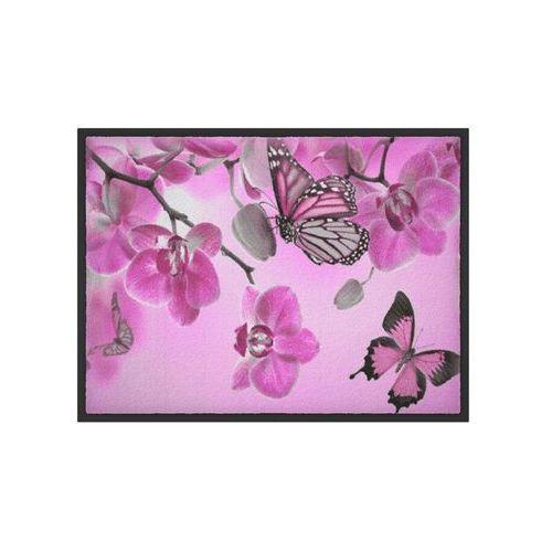 Wycieraczka z nadrukiem w motyle jasnoróżowy marki Bonprix