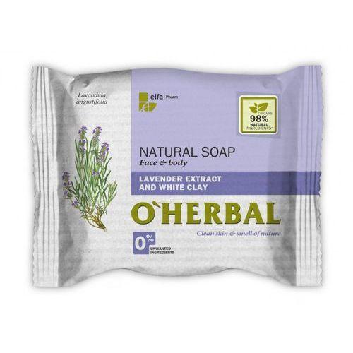 O'herbal - naturalne mydło z ekstraktem z lawendy i białą glinką 100g marki Elfa pharm