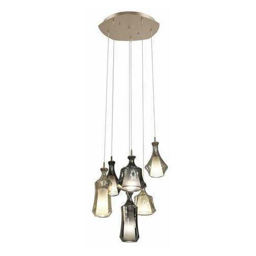 Italux Vives PND-203989-6 lampa wisząca zwis 6x40W E14 złoty/dymiony