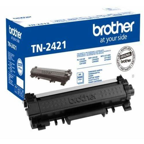 Nowy Oryginalny Toner Brother TN2421 / TN-2421 kolor czarny z chipem / L2512, L2532, L2552, L2312, L2352, L2372, L2712, L2712, L2732 / 3000 stron