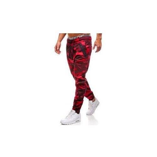 Spodnie męskie joggery moro-czerwone denley 0952, Athletic