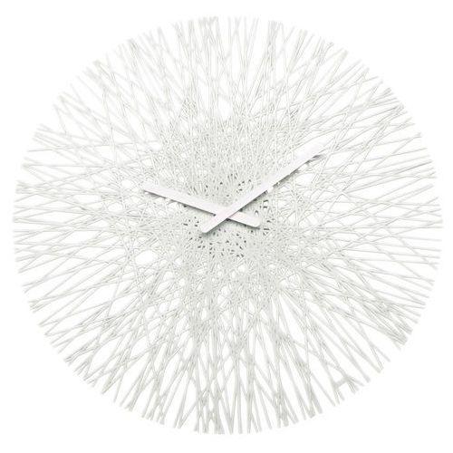 Zegar ścienny biały Silk KZ-2328525, kolor biały