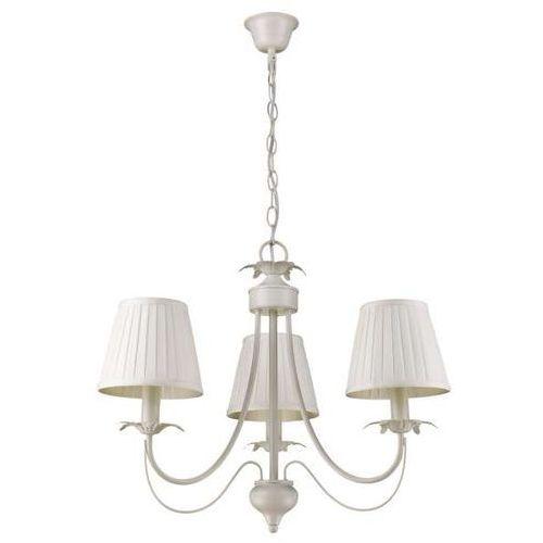 Żyrandol LAMPA wisząca GINOSA LP-5369/3P Light Prestige abażurowa OPRAWA klasyczny ZWIS na łańcuchu kremowy, kolor Ecru