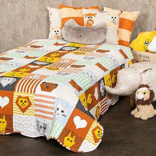 4Home Dziecięca narzuta na łóżko Patchwork, 140 x 200 cm (8596175016110)