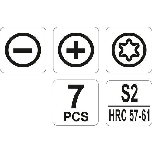Zestaw wkrętaków precyzyjnych 7cz. Yato YT-25863 - ZYSKAJ RABAT 30 ZŁ