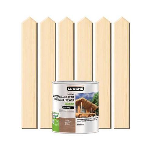 Lazura do drewna długotrwała ochrona i dekoracja drewna 0,75 lbezbarwny marki Luxens
