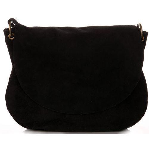 Uniwersalna torebka skórzana listonoszka czarna (kolory) marki Genuine leather